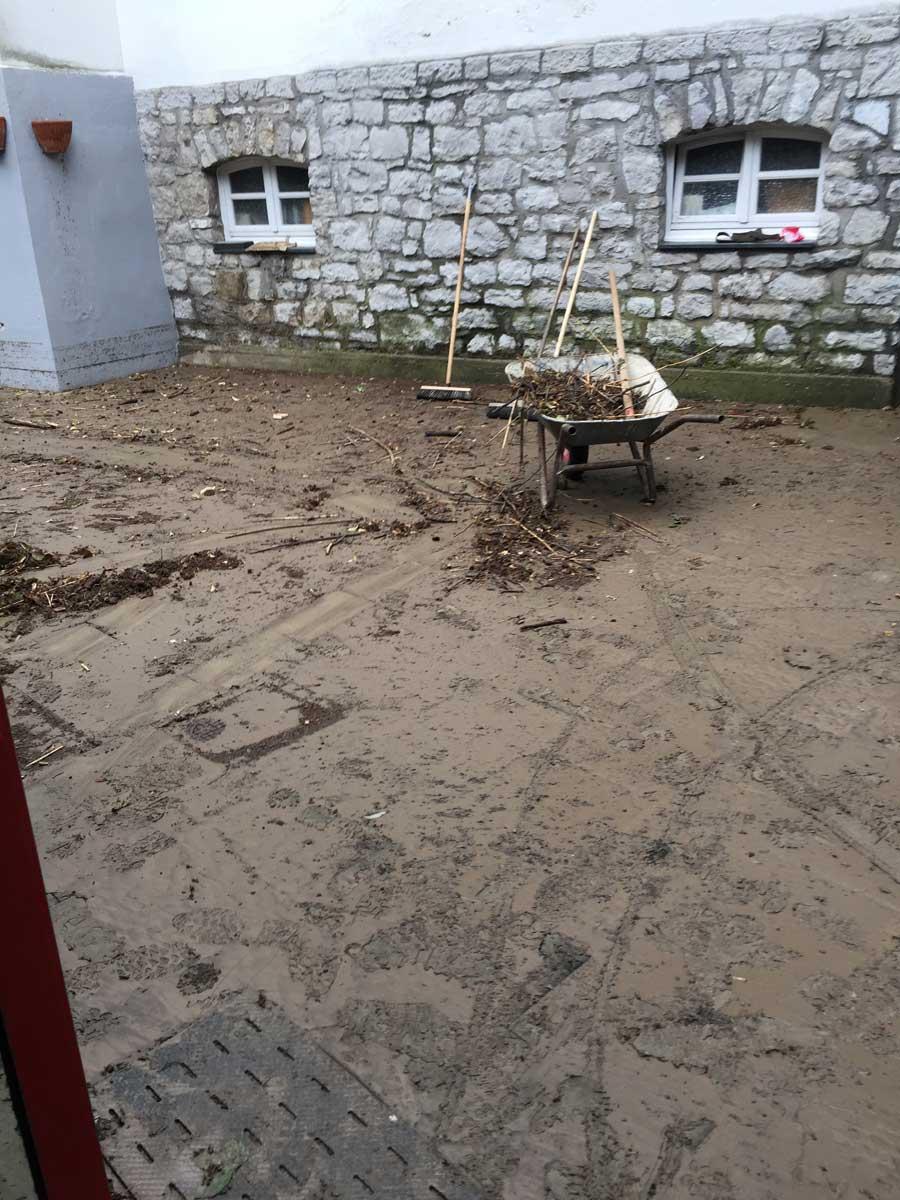 Hochwasserschaden im Bürgersaal
